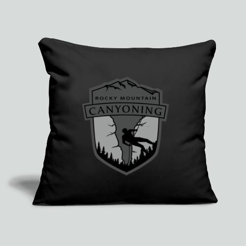 """ROCKY MOUNTAIN CANYONING-on dark back-2side-2 logo - Throw Pillow Cover 17.5"""" x 17.5"""""""