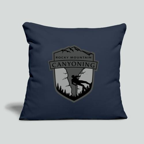 "ROCKY MOUNTAIN CANYONING-on dark back-2side-2 logo - Throw Pillow Cover 17.5"" x 17.5"""
