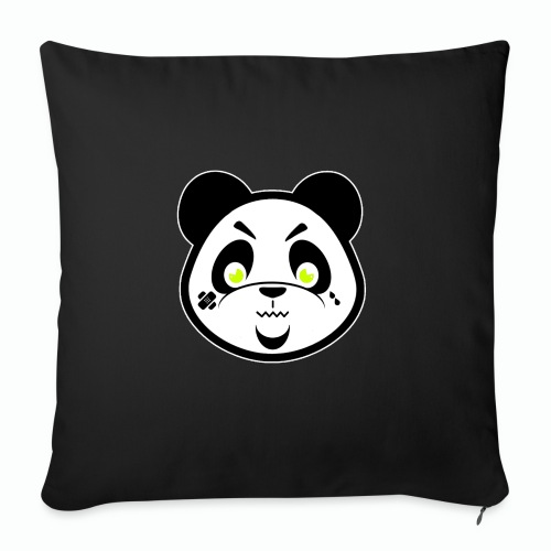 "#XQZT Mascot - Focused PacBear - Throw Pillow Cover 17.5"" x 17.5"""