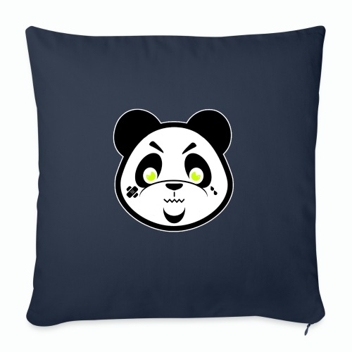 "#XQZT Mascot - Focused PacBear - Throw Pillow Cover 17.5"" x 17.5"""
