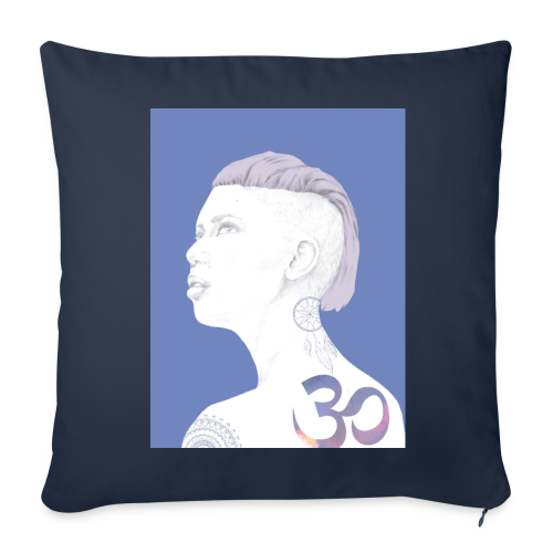 The Girl With The Om Tattoo - Throw Pillow Cover