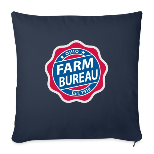 "Color Logo - Throw Pillow Cover 17.5"" x 17.5"""