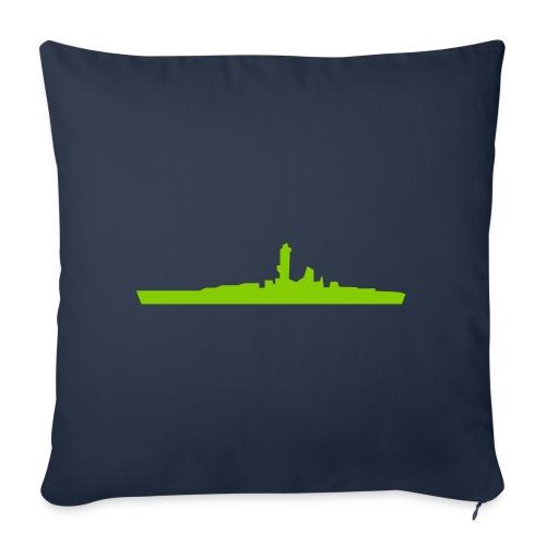 """Battleship - Throw Pillow Cover 17.5"""" x 17.5"""""""