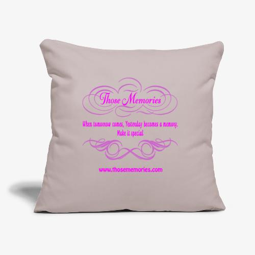 "Those Memories logo - Throw Pillow Cover 17.5"" x 17.5"""