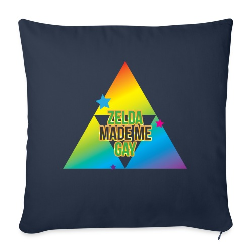 "Zelda Made Me Gay - Throw Pillow Cover 18"" x 18"""