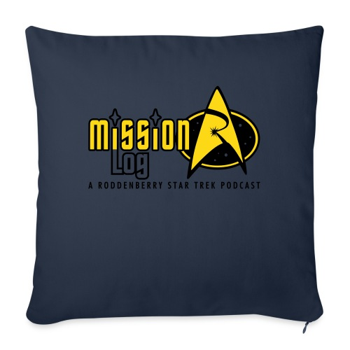 "Logo Wide 2 Color Black Text - Throw Pillow Cover 18"" x 18"""