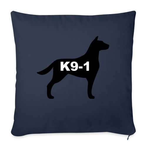 "k9-1 Logo Large - Throw Pillow Cover 18"" x 18"""