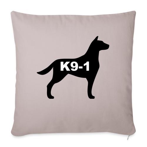 "k9-1 Logo Large - Throw Pillow Cover 18"" x 18"""