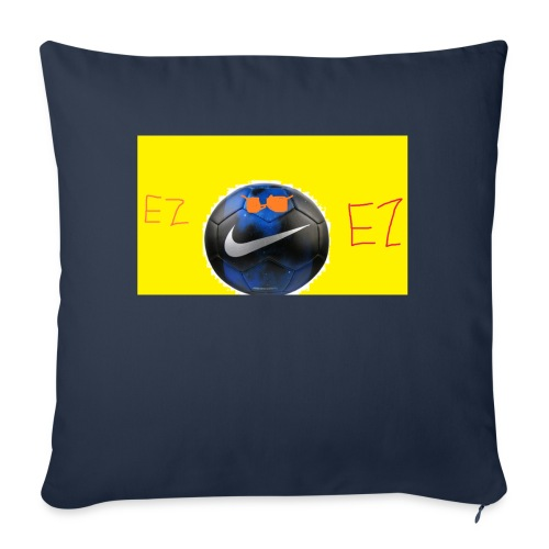 "ez soccer tekkerz - Throw Pillow Cover 17.5"" x 17.5"""