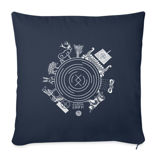 "Freyr - God of the World - Throw Pillow Cover 18"" x 18"""