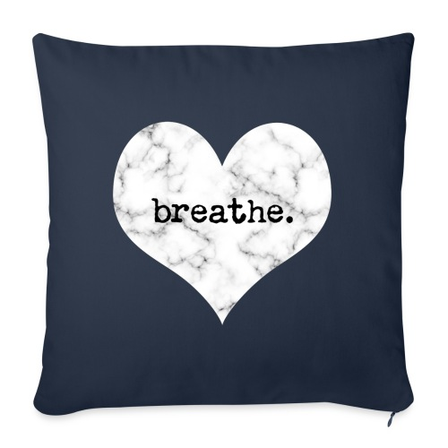 "Breathe Heart (Marble) - Throw Pillow Cover 18"" x 18"""