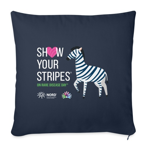 """Show Your Stripes for Rare Disease Day! - Throw Pillow Cover 17.5"""" x 17.5"""""""