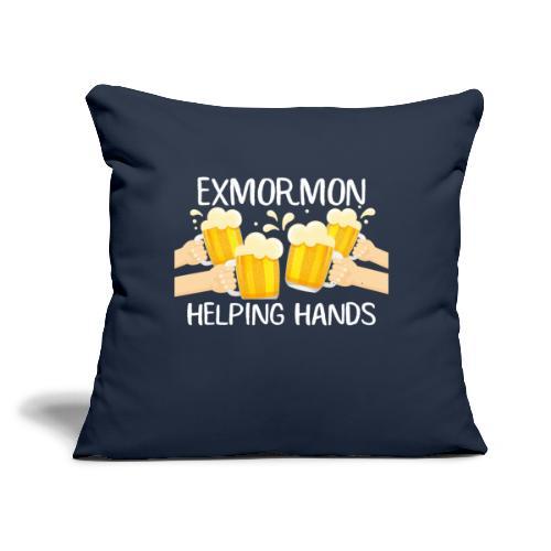 "Exmormon Helping Hands white typo - Throw Pillow Cover 17.5"" x 17.5"""