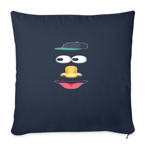"eyes nose - Throw Pillow Cover 18"" x 18"""