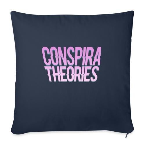 """Women's - ConspiraTheories Official T-Shirt - Throw Pillow Cover 18"""" x 18"""""""