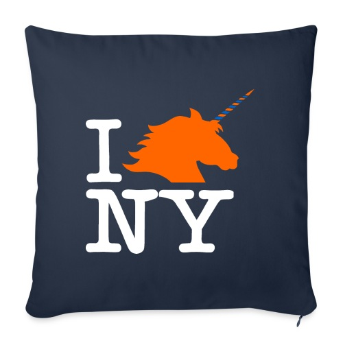 "I Unicorn New York (Kristaps Porzingis) - Throw Pillow Cover 18"" x 18"""