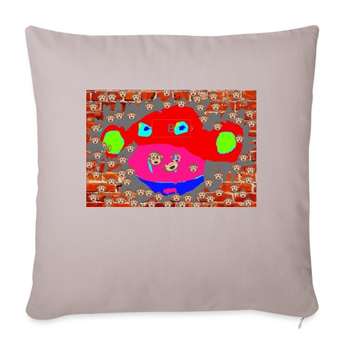 """monkey by brax - Throw Pillow Cover 17.5"""" x 17.5"""""""