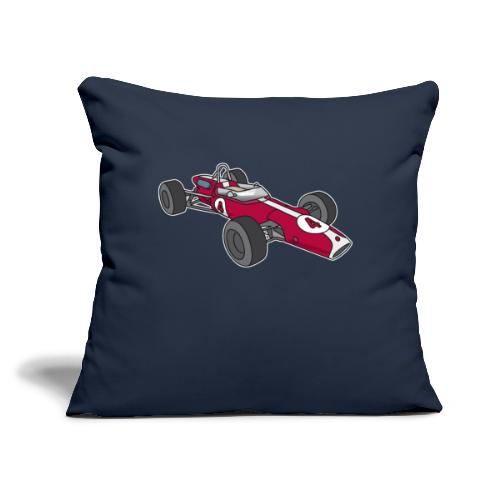 "Red racing car, racecar, sportscar - Throw Pillow Cover 17.5"" x 17.5"""