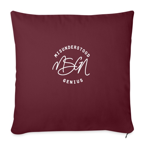 "MSGN Logo - Throw Pillow Cover 17.5"" x 17.5"""