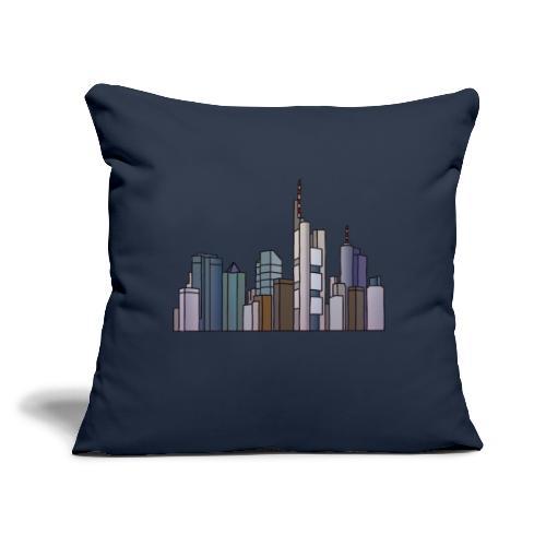 "Frankfurt skyline - Throw Pillow Cover 17.5"" x 17.5"""