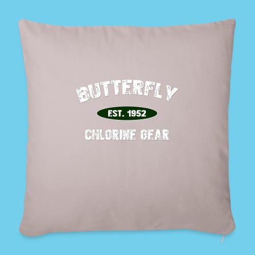 "Butterfly est 1952-M - Throw Pillow Cover 17.5"" x 17.5"""