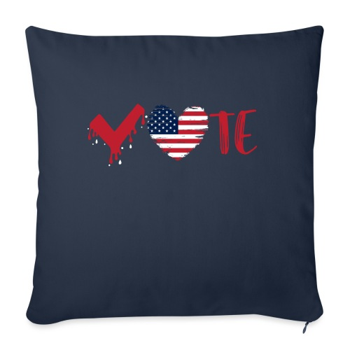 """vote heart red - Throw Pillow Cover 17.5"""" x 17.5"""""""