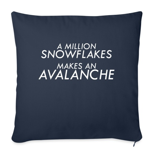 "Liberal Snowflakes - Throw Pillow Cover 18"" x 18"""