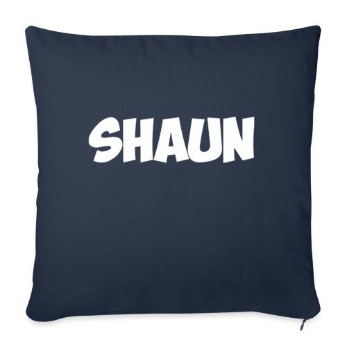 "Shaun Logo Shirt - Throw Pillow Cover 18"" x 18"""