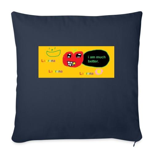 "pechy vs apple - Throw Pillow Cover 18"" x 18"""