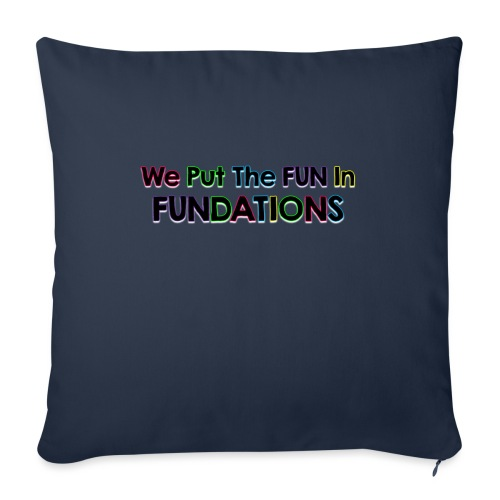 """fundations png - Throw Pillow Cover 18"""" x 18"""""""