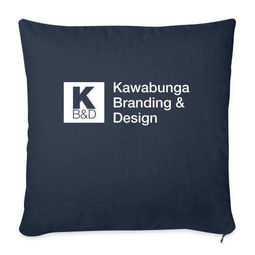 "KBD Signature_blanc - Throw Pillow Cover 18"" x 18"""