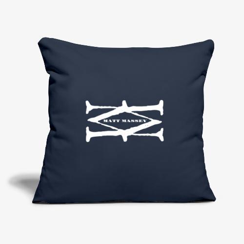 "Matt Massey Logo White - Throw Pillow Cover 17.5"" x 17.5"""