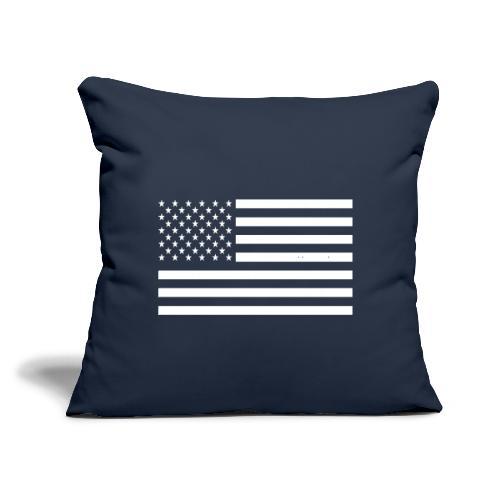 "USA American Flag - Throw Pillow Cover 17.5"" x 17.5"""