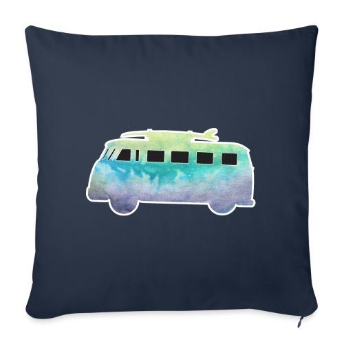 "Surfers Kombi Van - Throw Pillow Cover 17.5"" x 17.5"""