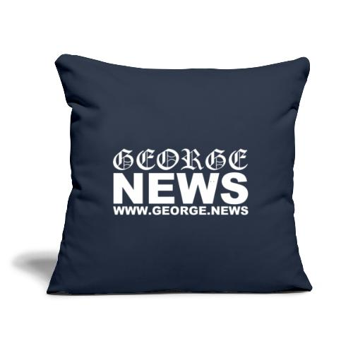 """GEORGE NEWS V2 - Throw Pillow Cover 17.5"""" x 17.5"""""""