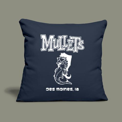 "mulletmain white - Throw Pillow Cover 18"" x 18"""