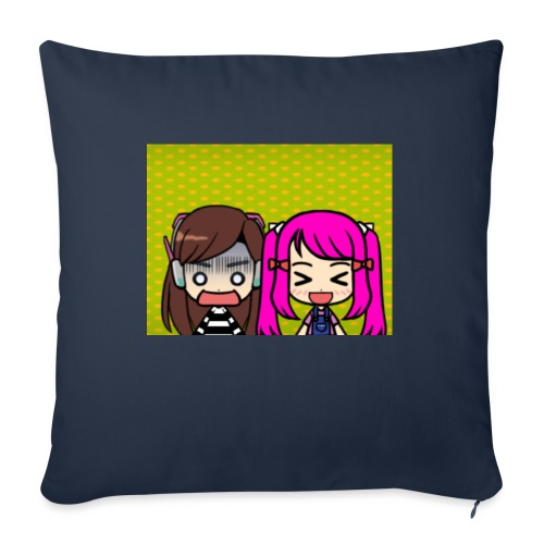"""Phone case merch of jazzy and raven - Throw Pillow Cover 17.5"""" x 17.5"""""""