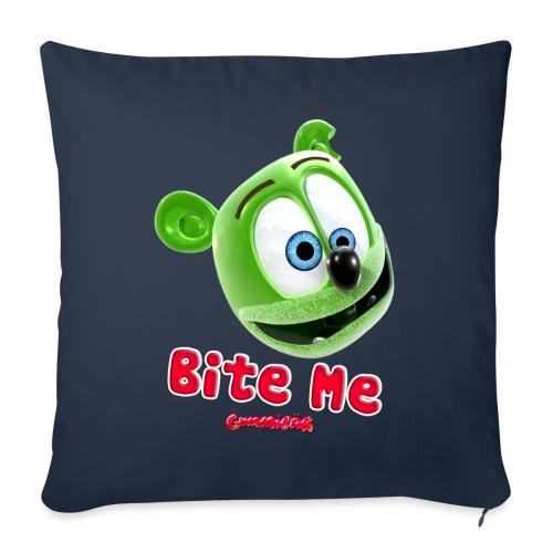 "Bite Me - Throw Pillow Cover 18"" x 18"""