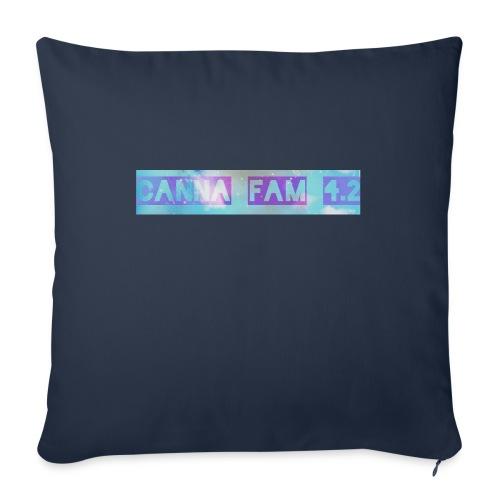 "Canna fams #3 design - Throw Pillow Cover 17.5"" x 17.5"""