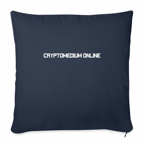 "cryptomedium logo light - Throw Pillow Cover 17.5"" x 17.5"""