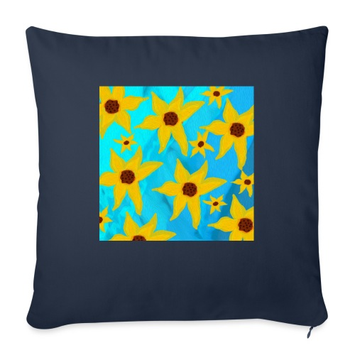"""Funky Sunflowers - Throw Pillow Cover 17.5"""" x 17.5"""""""