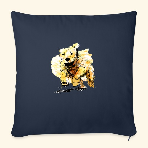 """oil dog - Throw Pillow Cover 17.5"""" x 17.5"""""""