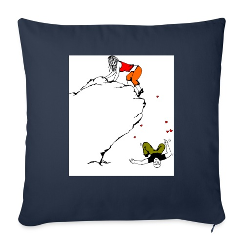 """Lady Climber - Throw Pillow Cover 17.5"""" x 17.5"""""""