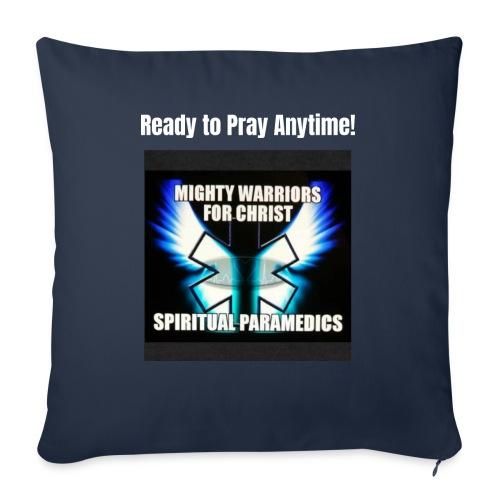 "MightyWarrior PrayAnytime White - Throw Pillow Cover 17.5"" x 17.5"""
