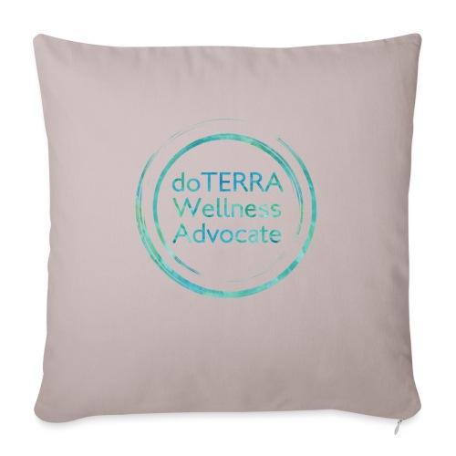 "Wellness advocate - Throw Pillow Cover 18"" x 18"""