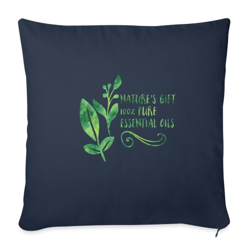 """nature's gift essential oils - Throw Pillow Cover 18"""" x 18"""""""