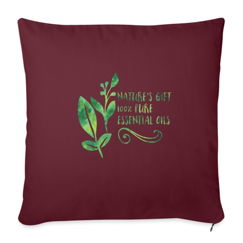 "nature's gift essential oils - Throw Pillow Cover 18"" x 18"""