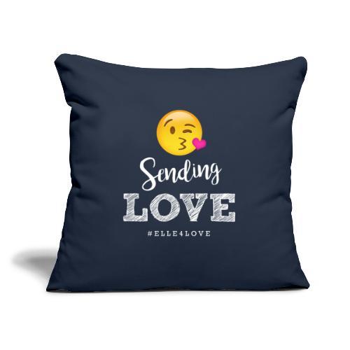 "Sending Love - Throw Pillow Cover 18"" x 18"""