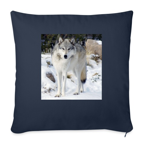 """Canis lupus occidentalis - Throw Pillow Cover 18"""" x 18"""""""