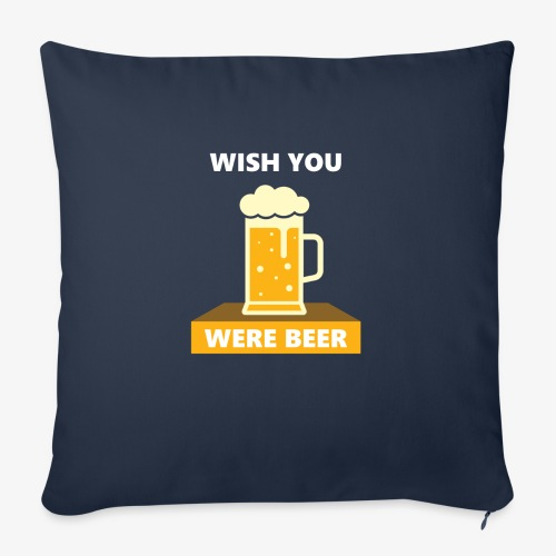 """wish you were beer - Throw Pillow Cover 17.5"""" x 17.5"""""""